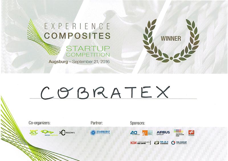 Cobratex reçoit le prix de startup innovante