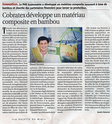 Cobratex dans la Gazette du Midi