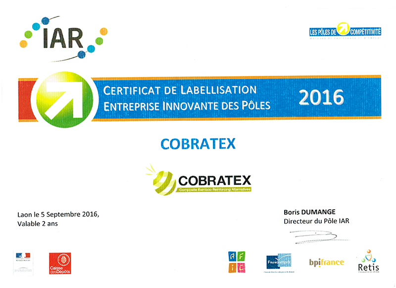 Cobratex reçoit le label E.I.P